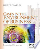 Cases in the Environment of Business