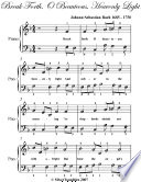 Break Forth O Beauteous Heavenly Light Easy Piano Sheet Music