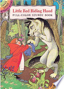 Little Red Riding Hood Girl Meets A Hungry Wolf In The