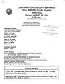 Full Board  Public Session  Minutes