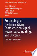 Proceedings of the International Conference on Signal  Networks  Computing  and Systems