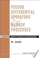 Pseudo Differential Operators Markov Processes Markov Processes And Applications