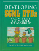 Developing SGML DTDs