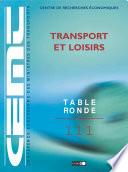 Tables Rondes CEMT Transport et loisirs