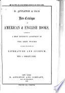 New Catalogue of American   English Books