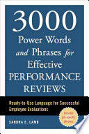 3000 Power Words and Phrases for Effective Performance Reviews