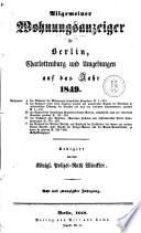 Allgemeiner Wohnungsanzeiger für Berlin, Charlottenburg und Umgebungen