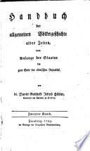 Handbuch der allgemeinen V  lkergeschichte alter Zeiten
