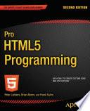 Pro HTML5 Programming
