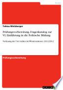 Prüfungsvorbereitung, Fragenkatalog zur VL Einführung in die Politische Bildung