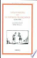 Les marges des Lumi  res Fran  aises  1750 1789