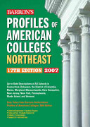 Barron s Profiles of American Colleges Northeast