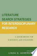 Literature Search Strategies for Interdisciplinary Research