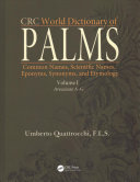 CRC World Dictionary of Palms Amazing And Useful Works Through