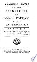 Philosophia sacra