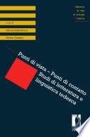 Punti di vista     Punti di contatto  Studi di letteratura e linguistica tedesca