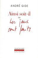 Ainsi Soit Il Ou Les Jeux Sont Faits book