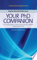 Your Phd Companion Book PDF
