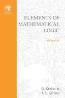 Elements of Mathematical Logic