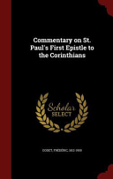 Commentary on St. Paul's First Epistle to the Corinthians