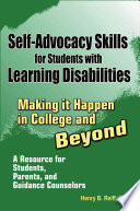 Self Advocacy Skills for Students With Learning Disabilities