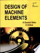 Design Of Machine Elements book