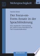 Der Focus-on-Form-Ansatz in der Sprachförderung