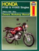 Honda H100 H100s Singles Owners Workshop Manual