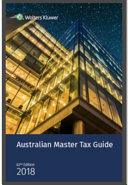 Australian Master Tax Guide 2018