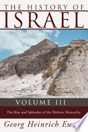 The History Of Israel Volume 3
