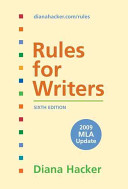 Rules for Writers with Tabs with 2009 MLA Update