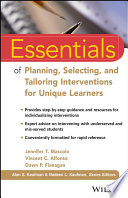 Essentials of Planning  Selecting  and Tailoring Interventions for Unique Learners