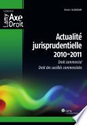Actualité jurisprudentielle, 2010-2011