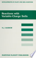 Reactions with Variable Charge Soils