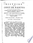 Histoire de l   dit de Nantes