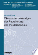 Ökonomische Analyse der Regulierung des Insiderhandels
