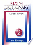 Math Dictionary With Solutions
