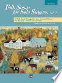 Folk Songs for Solo Singers