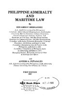 Philippine Admiralty and Maritime Law