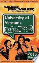 University of Vermont 2012