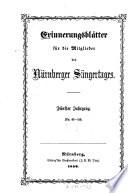 Erinnerungsblätter für die Mitglieder des Nürnberger Sängertages