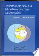 Elementos de la mecánica del medio continuo para cuerpos sólidos