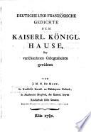 Deutsche Und Französische Gedichte Dem Kaiserl. Königl. Hause