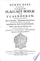 Plaeccaert boeck van Vlaanderen