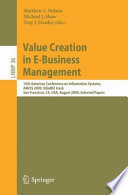 Value Creation in E Business Management