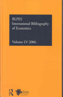 International Bibliography of Economics 2006
