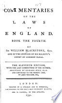 Commentaries on the Laws of England Free download PDF and Read online