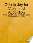Ode to Joy for Violin and Accordion   Pure Duet Sheet Music By Lars Christian Lundholm