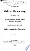 Evangelische lieder-sammlung