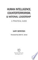 Human Intelligence  Counterterrorism  and National Leadership
